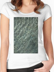Sunshine and Ripples Women's Fitted Scoop T-Shirt