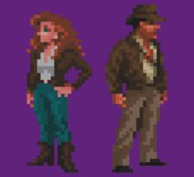 Indiana Jones - pixel art by galegshop