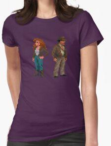 Indiana Jones - pixel art Womens Fitted T-Shirt