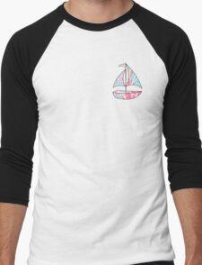 Lilly Pulitzer Inspired Sailboat - Jellies Be Jammin Men's Baseball ¾ T-Shirt