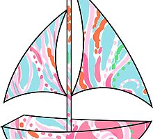 Lilly Pulitzer Inspired Sailboat Jellies Be Jammin by mlr28blu