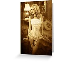 Jade in Antique Corset Greeting Card