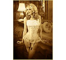 Jade in Antique Corset Photographic Print