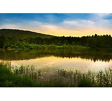 Aqua Sunset Landscape Photographic Print