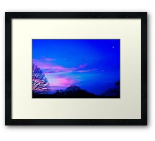 Pushing Away The Darkness Framed Print