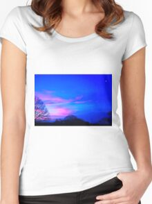 Pushing Away The Darkness Women's Fitted Scoop T-Shirt