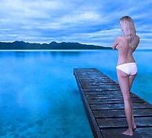 Cool Morning on a Blue Lake by jadeamber