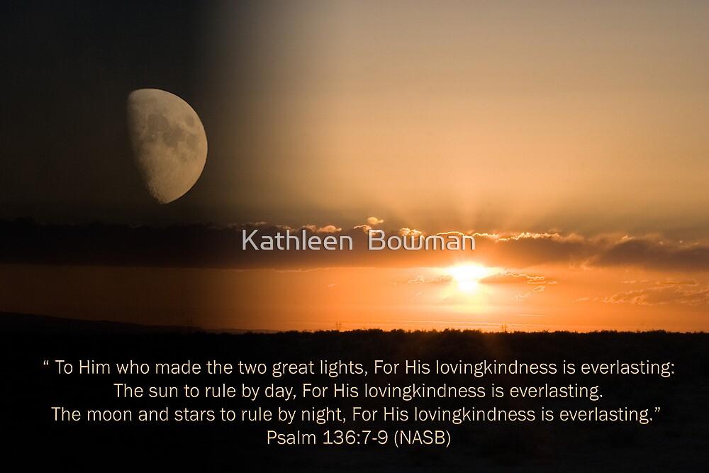 Sun, Moon & Stars by Kathleen  Bowman