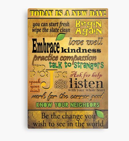 Today is a New Day! Metal Print