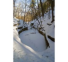 Frozen French Canyon Pool Photographic Print