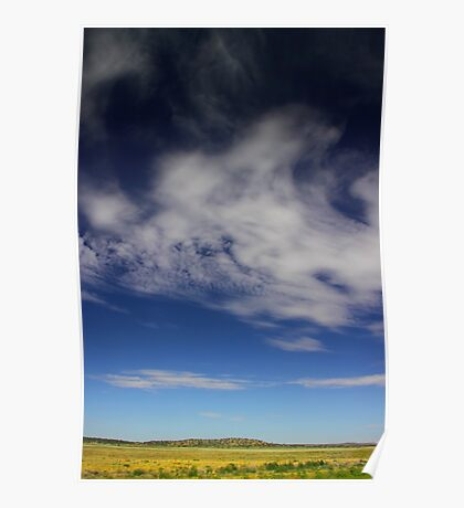 Landscape with clouds Poster