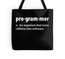 Funny Programmer Coffee T Shirt Tote Bag