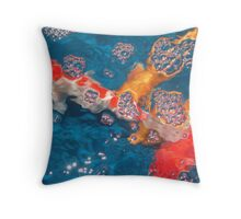 Swim in the Bubbly Throw Pillow