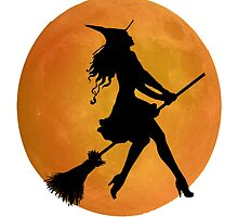 Witches ride  broomsticks better by Wendy Crouch