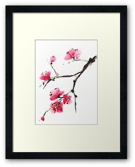 Flowering cherry. by Svetlana Mikhalevich