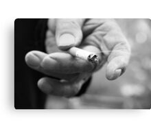 Smoke of Cigarette  Canvas Print