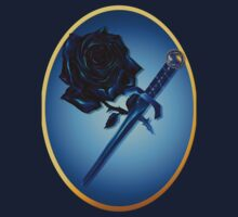 The Black Rose and Dagger Oval by Lotacats