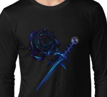 The Black Rose and Dagger Oval Long Sleeve T-Shirt