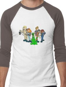 The Real Scooby Busters! Men's Baseball ¾ T-Shirt