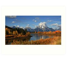 Quiet Autumn Afternoon at Oxbow Bend - Art Print