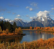 Quiet Autumn Afternoon at Oxbow Bend - by Isabelle Norboge-Bindreiff