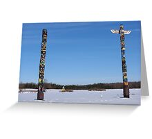 Meanwhile, Back At Winters' Lakes... Langford, NY Greeting Card