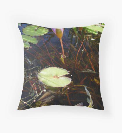 Koi and Waterlily Throw Pillow