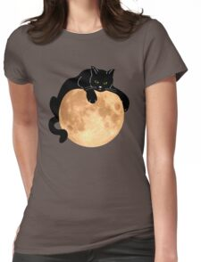 The Black Cat  Womens Fitted T-Shirt