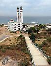 Walkway to the Ouakam Mosque in Dakar Senegal by Lucinda Walter