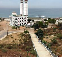 Walkway to the Ouakam Mosque in Dakar Senegal by Lucinda Walter