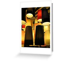glowing 3 Greeting Card
