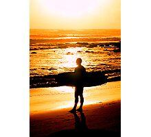 Surfer - Sunrise at Alexander Headlands Photographic Print