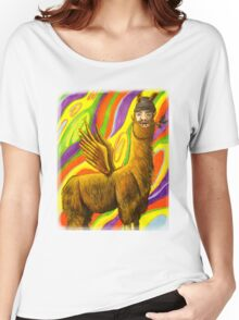 The Flying Llama Dude Women's Relaxed Fit T-Shirt