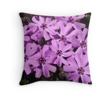 Phlox Flowers Nature Abstract Art Throw Pillow