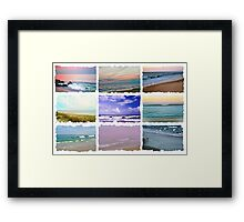 Ocean Waves Photo Collage Framed Print