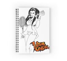 Vegan Cave Girl Tennis Spiral Notebook
