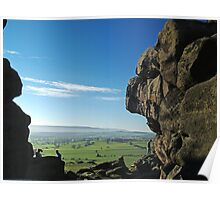 Lower Wharfedale from Almscliff Crag Poster