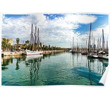 Yachts and Palm Trees - Impressions of Barcelona  Poster
