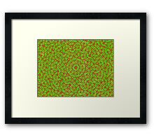 Silicon Atoms Mandala Red Green Framed Print