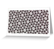 Silicon Atoms Black White Greeting Card