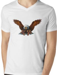 bold eagle Mens V-Neck T-Shirt