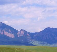 Boulder and the Flatirons by Thomas Stevens