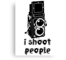TLR Camera - I Shoot People Photography T Shirt Canvas Print