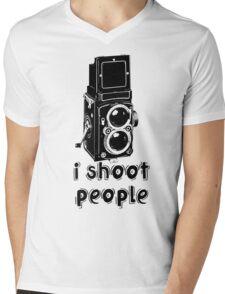 TLR Camera - I Shoot People Photography T Shirt Mens V-Neck T-Shirt