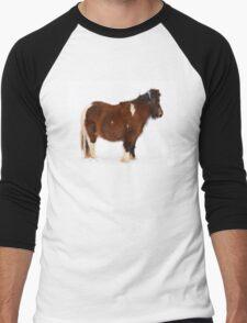 Pony in the Snow Men's Baseball ¾ T-Shirt