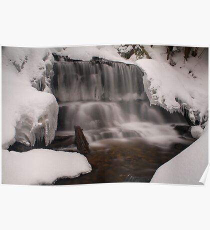 Wagner Falls Frozen Poster