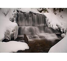 Wagner Falls Frozen Photographic Print
