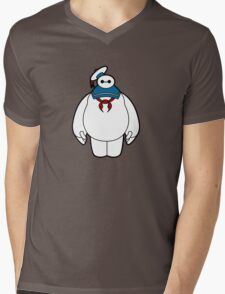 Bay Puft Mens V-Neck T-Shirt