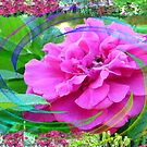 Rose Swirl In My Flower Garden by MaeBelle