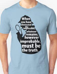 Sherlock Holmes Quote T Shirt T-Shirt